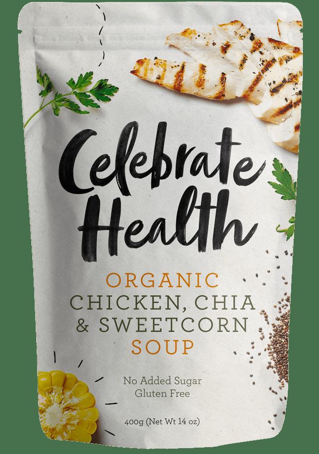 Celebrate Health Chicken, Chia & Sweetcorn Soup Image