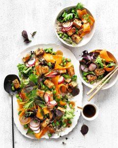 Teriyaki Tofu Asian Salad with the Celebrate Health Teriyaki Recipe Base