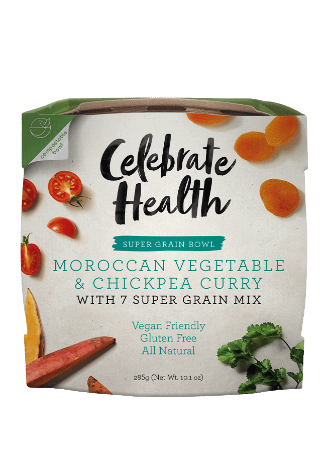 Celebrate Health Moroccan Vegetable & Chickpea Curry Super Grain Bowl Image