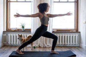 woman practisinh yoga