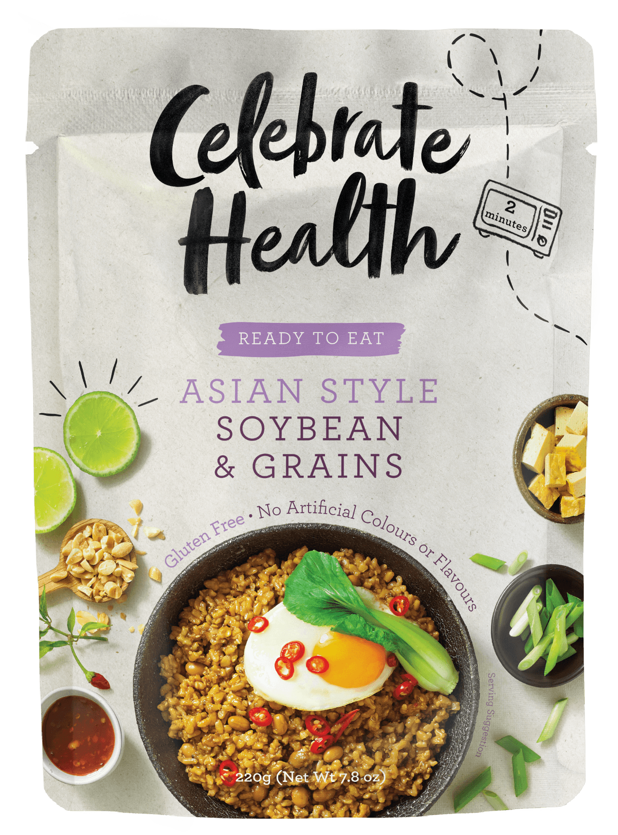 Celebrate Health Ready to Eat Asian Style Soybean & Grains Image