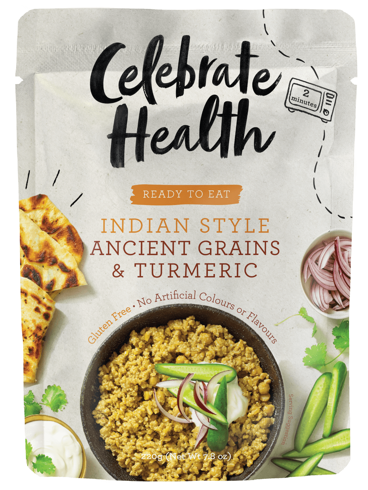 Celebrate Health Ready to Eat Indian Style Turmeric & Ancient Grains Image