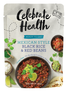 Celebrate Health Ready-to-Eat Range: Mexican Style Black Rice & Red Beans