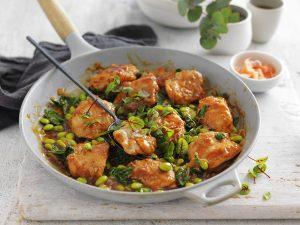 Braised Japanese Chicken in pan